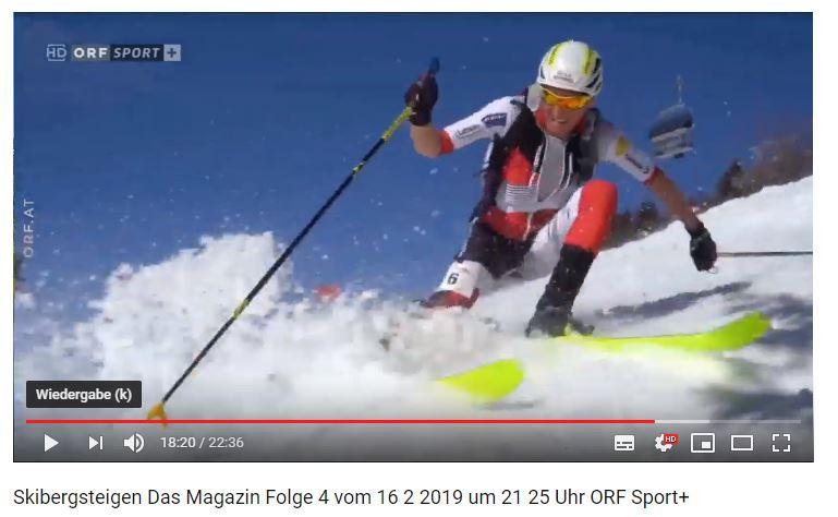 Mitschnitt des Skimo-Skibergsteigerfensters auf ORF